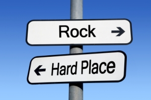 when you're caught between a rock and a hard place it can be hard to see you have a choice